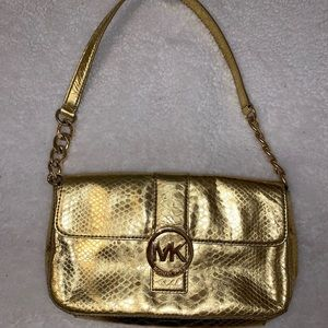 Gold Michael Kors mini bag